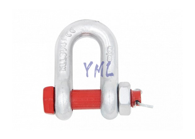 SH08 Bolt Type Safety Chain Shackle, U.S. Type G2150, Drop Forged